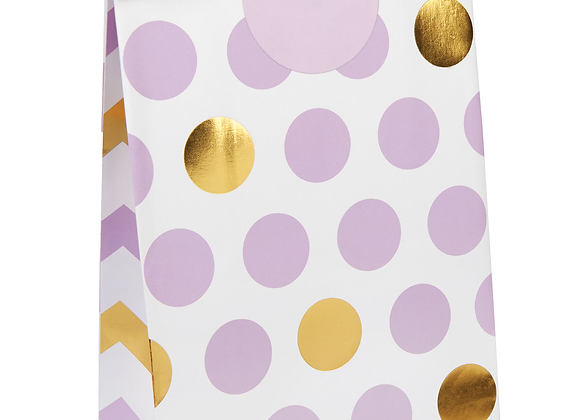 Lilac And Gold Party Bags (x 5)