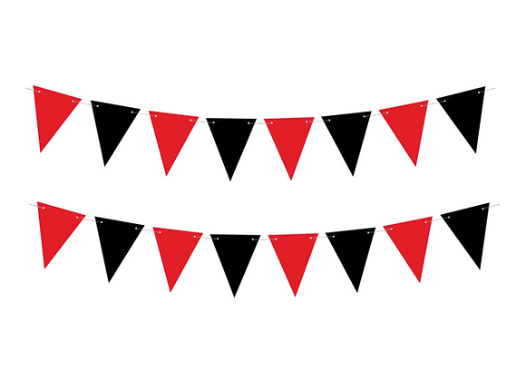 Black And Red Bunting Kit - 1.3 M