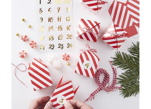Advent Calendar Kit - Candy Stripes