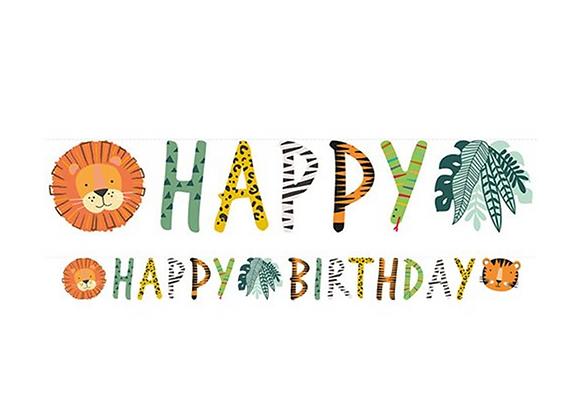 Get Wild Happy Birthday Garland
