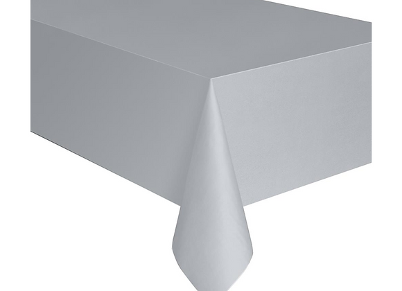Silver Poly Tissue Table Cover
