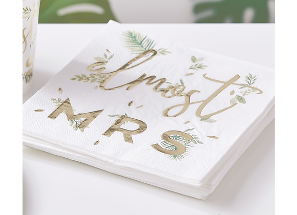 Almost Mrs Paper Napkins (x 16)