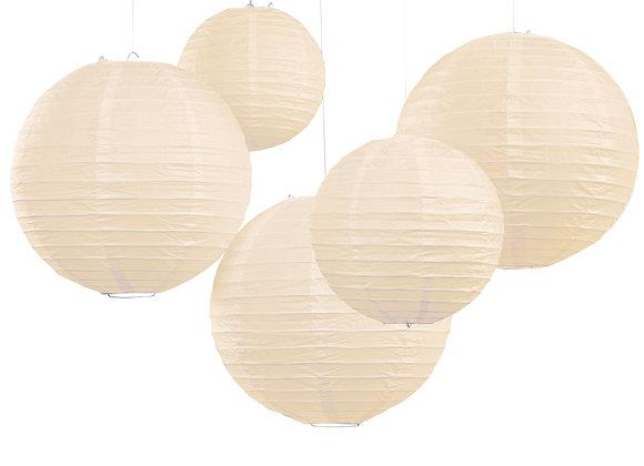 Ivory Paper Lanterns