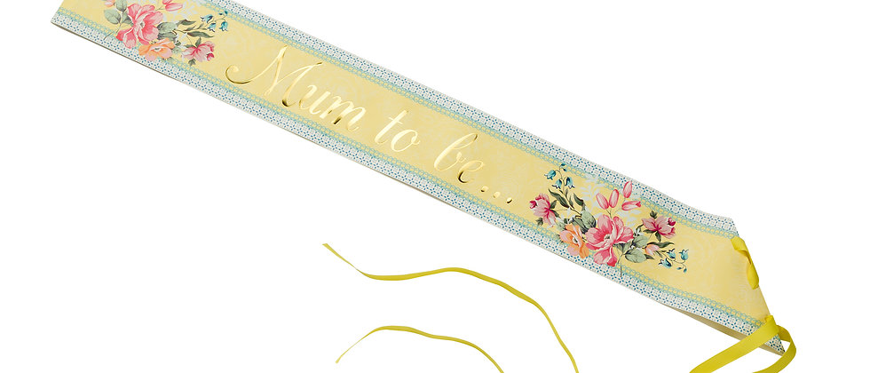 Mum To Be Floral Sash