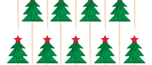 Christmas Tree Honeycombs Cake Toppers