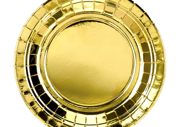 Gold Paper Plates x 6