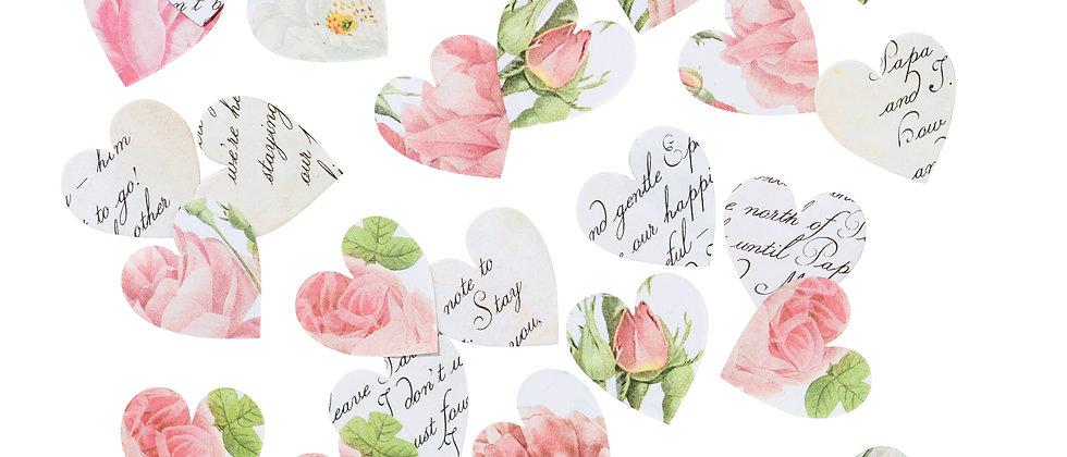 Floral Love Heart Table Confetti