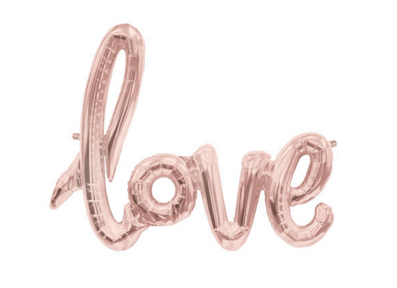 Rose Gold Love Script Balloon