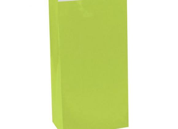 paper party bags, green paper party bags, green party bags, children's party bags