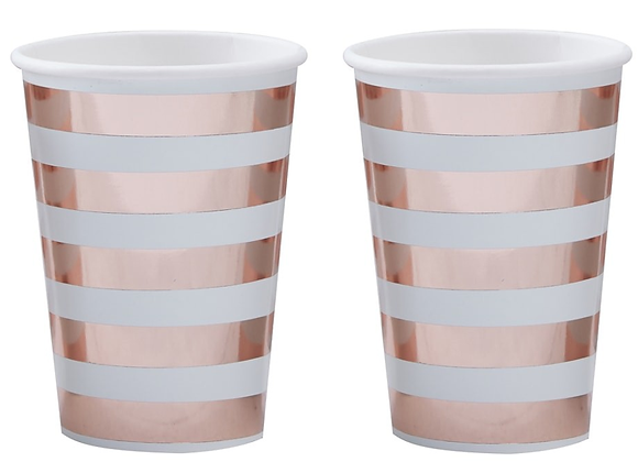 Mint & Rose Gold Paper Cups