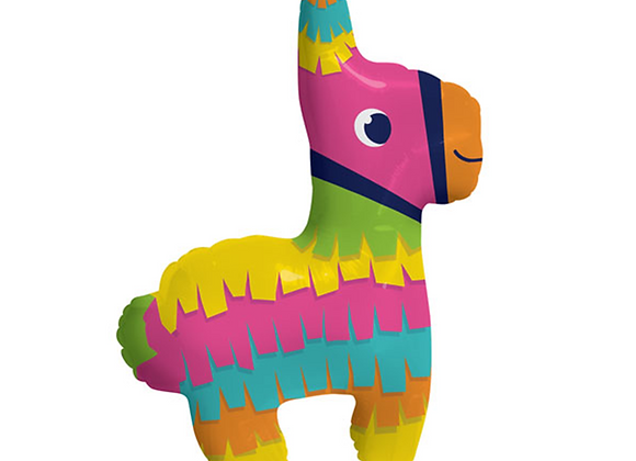 rainbow llama balloon, llama birthday balloon