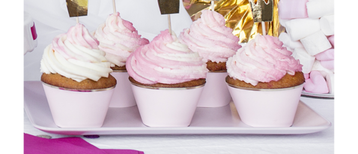 Gold Crown Cup Cake Toppers x 6