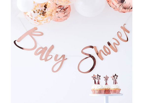 Rose Gold Baby Shower Garland