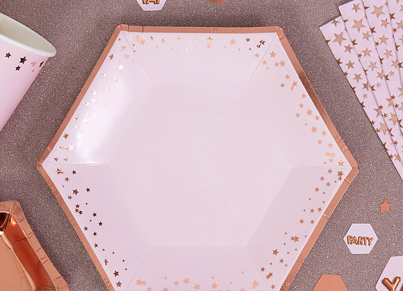 Rose Gold And Pink Canape Plates