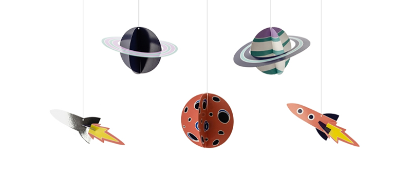 Space Party Hanging Decorations Kit