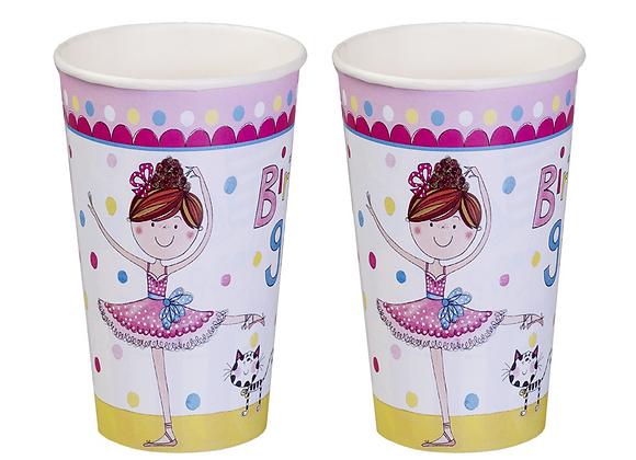 Rachel Ellen Ballerina Cups  (x 8)