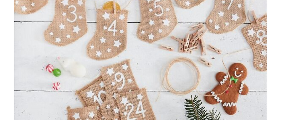 Advent Calendar Kit - Hessian Stockings