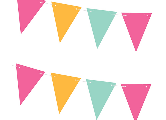 bright coloured buning, tropical party decorations, decorations for a summer party