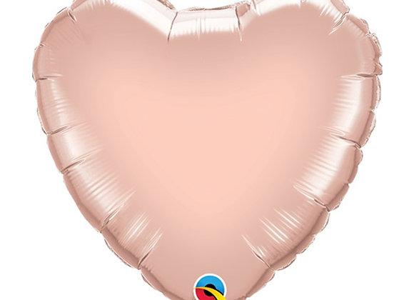 """Rose Gold Love Heart Foil 18"""" Foil Balloon"""