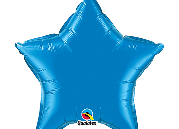 """Inflated Sapphire Blue Star 20"""" Balloon"""