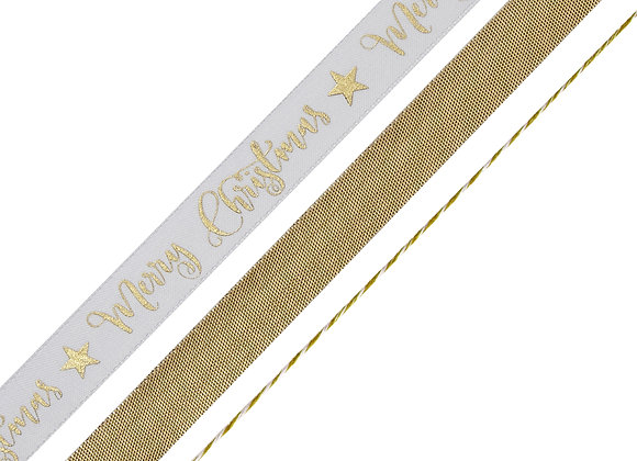 Merry Christmas Gold Foiled Ribbon Kit