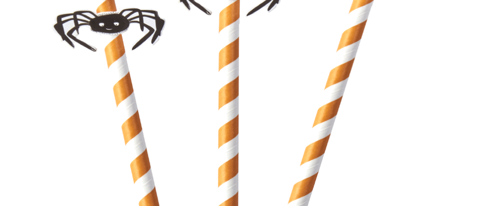 Spooky Spider Straws x 16