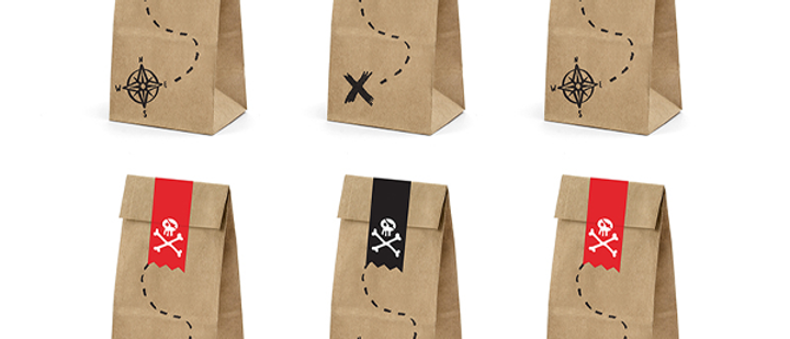 Pirate Party Treat Bags (x 6)