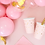 Thumbnail: Light Pink Gold Stars Cups (x 6 pack)