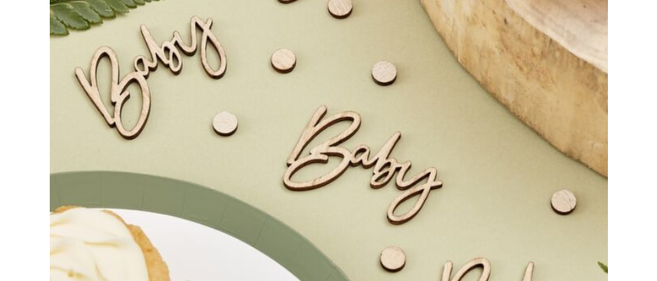 """Wooden """"Baby"""" Table Confetti"""
