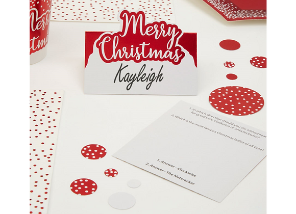 Merry Christmas Place Cards x 10