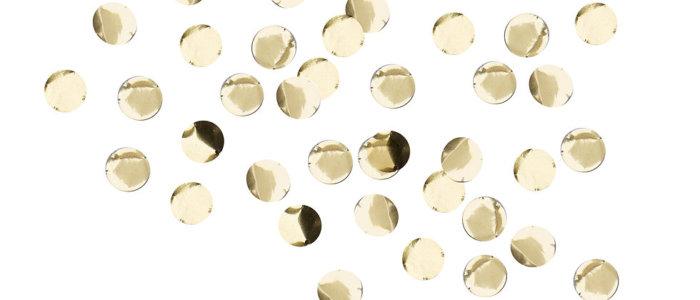 Gold Metallic Look Table Confetti