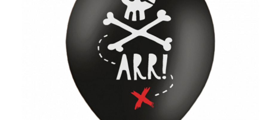 Pirate Party Balloons x 6