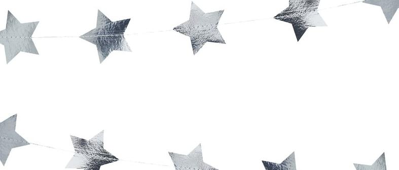 Silver Star Garland