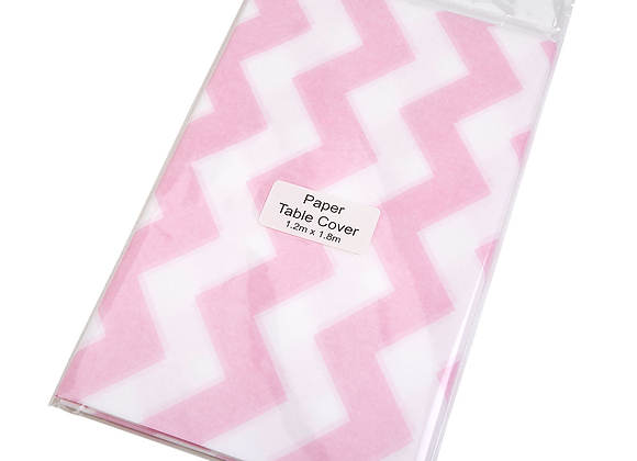 Pink And White Paper Table Cover