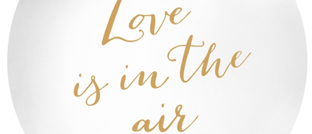 Gold Text Love Is In The Air Giant Balloon