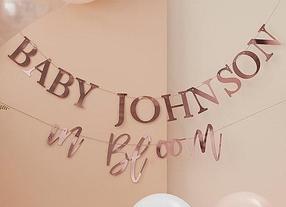 Customisable Baby Shower Foil Garland