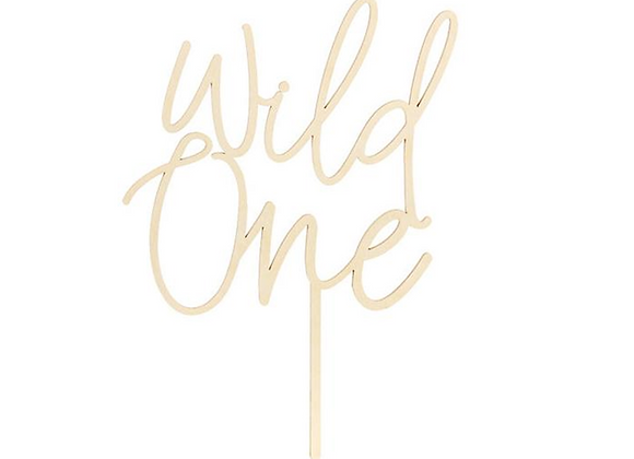 wild one cake topper, first birthday cake topper