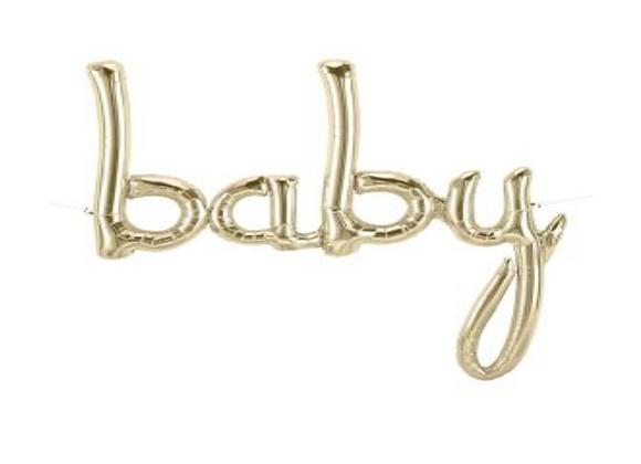 """White Gold """"baby"""" Balloon Garland - 120 cm"""