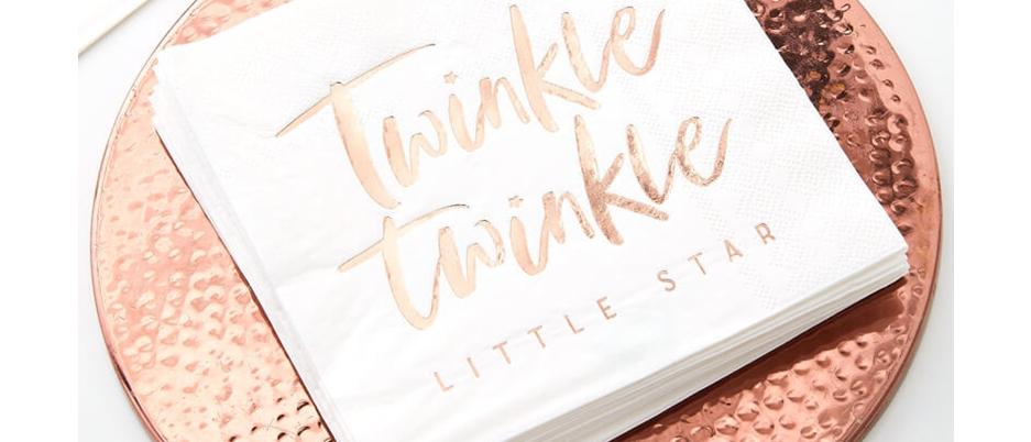 Twinkle Twinkle Napkins ( x 16 )