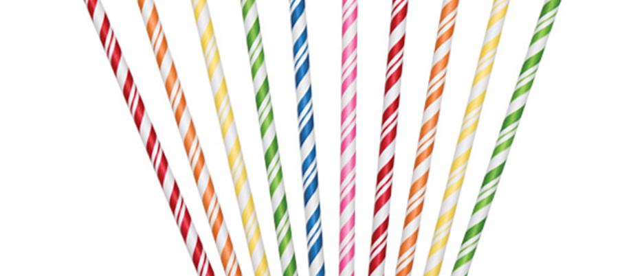 eco-friendly straws, colourful paper straws, straws for children's birthday, rainbow party them
