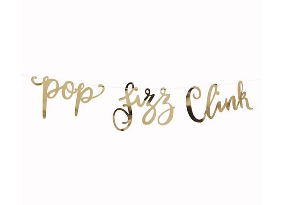 Gold Pop Fizz Clink Garland