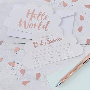 Hello World Baby Shower