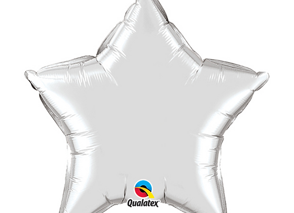 "Inflated Silver Star 18"" Balloon"