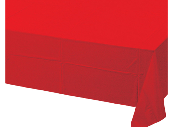 RED PAPER TABLECOVER, CHRISTMAS DISPOSABELE TABLECOVER, RED TABLECOVER FOR CHRISTMAS