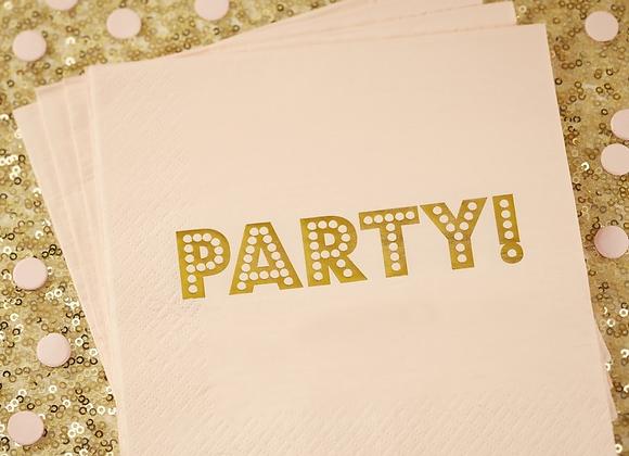 Pastel Pink Foil Napkins