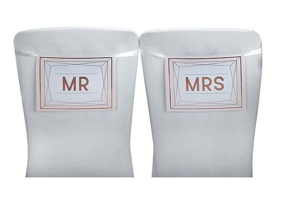 Mr / Mrs Wedding Chair Signs