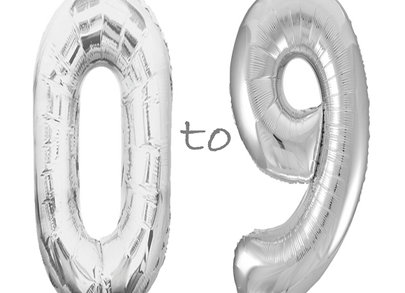 Silver 34 Inch Metallic Helium Filled Balloons