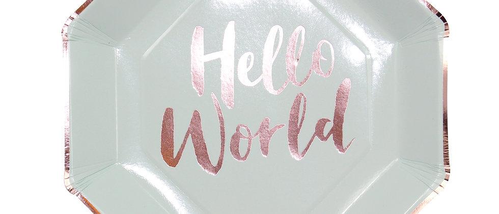 Hello World Paper Plates