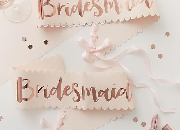 Bridesmaid Sashes