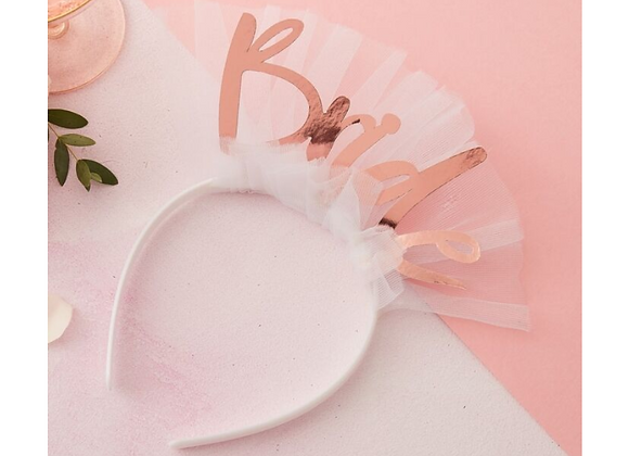 BRIDE TO BE VEIL, HEN PARTY GIFT, ROSE GOLD HEN PARTY GIFT, BRIDE TO BE HEADBAND